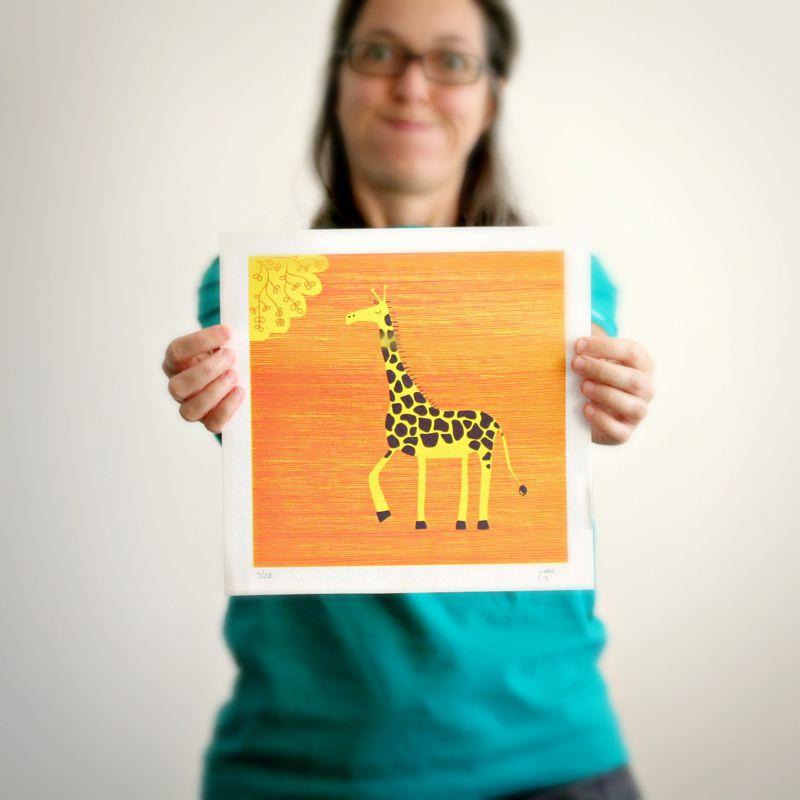 A Girafa - Serigrafia