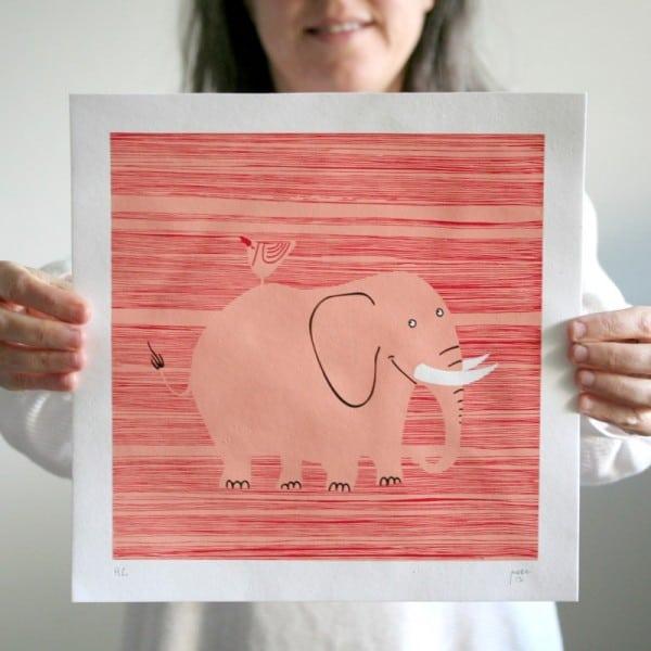Serigrafia do Elefante