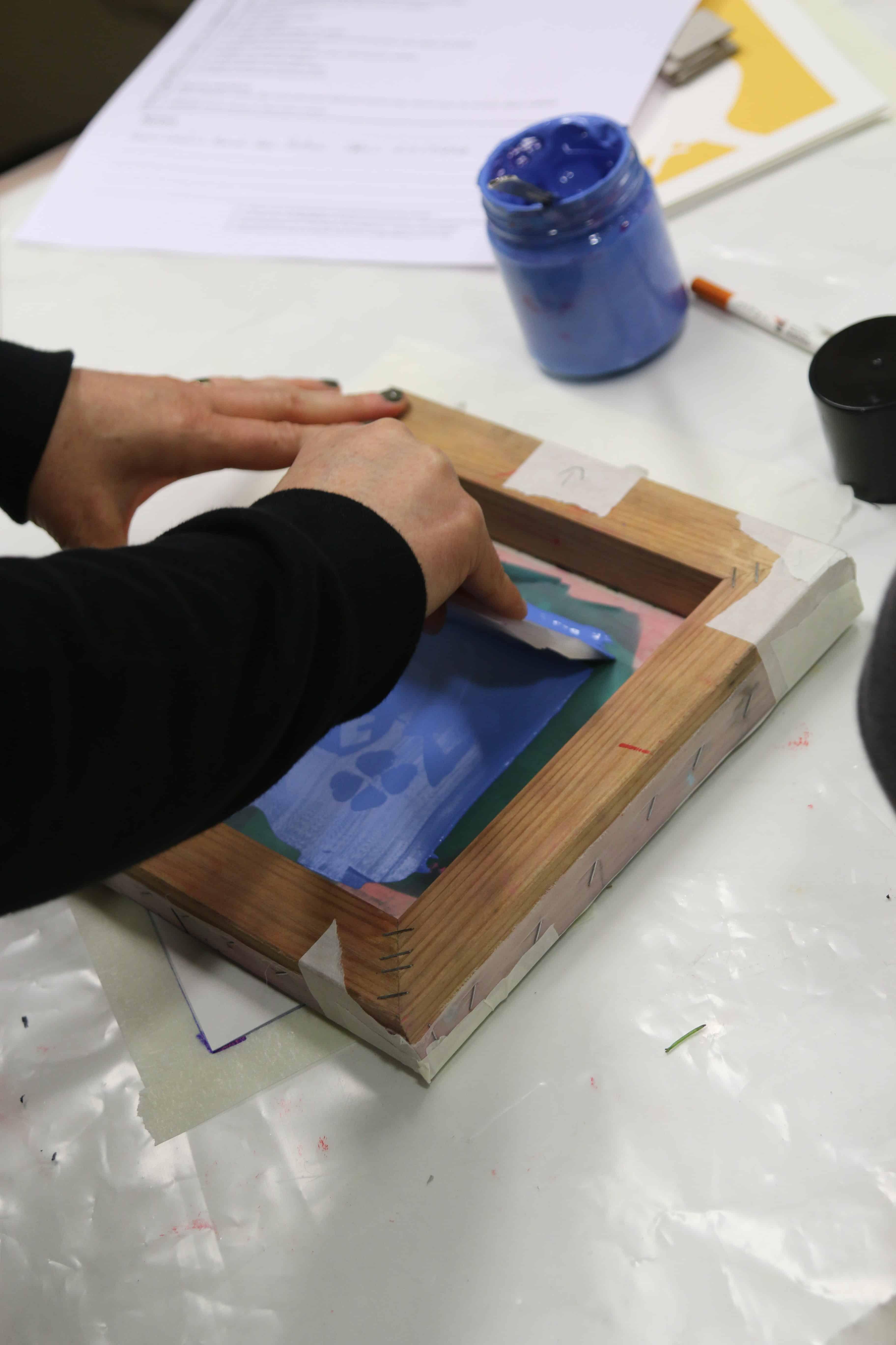 Imprimir serigrafia azul