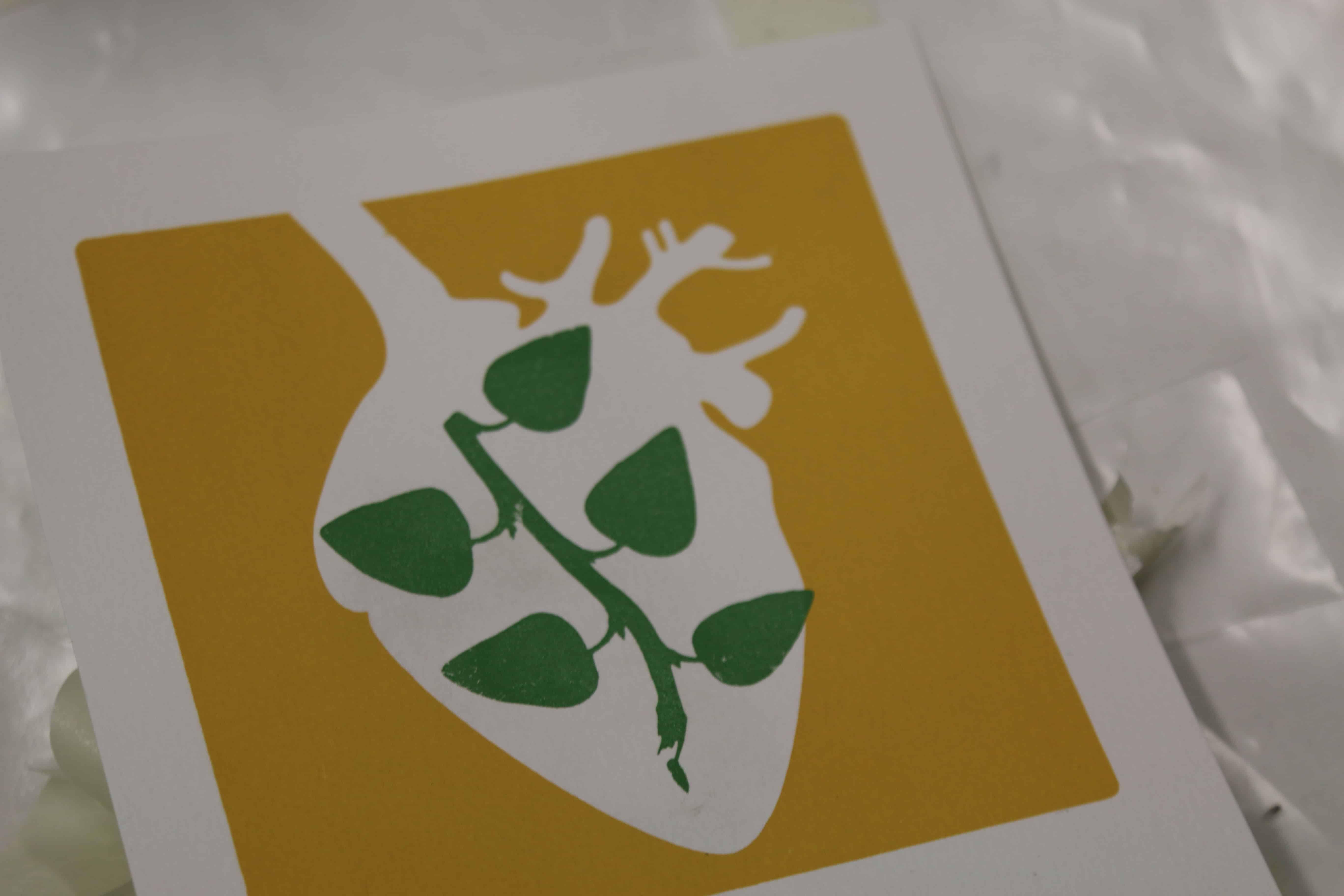 Serigrafia no coração - Natureza