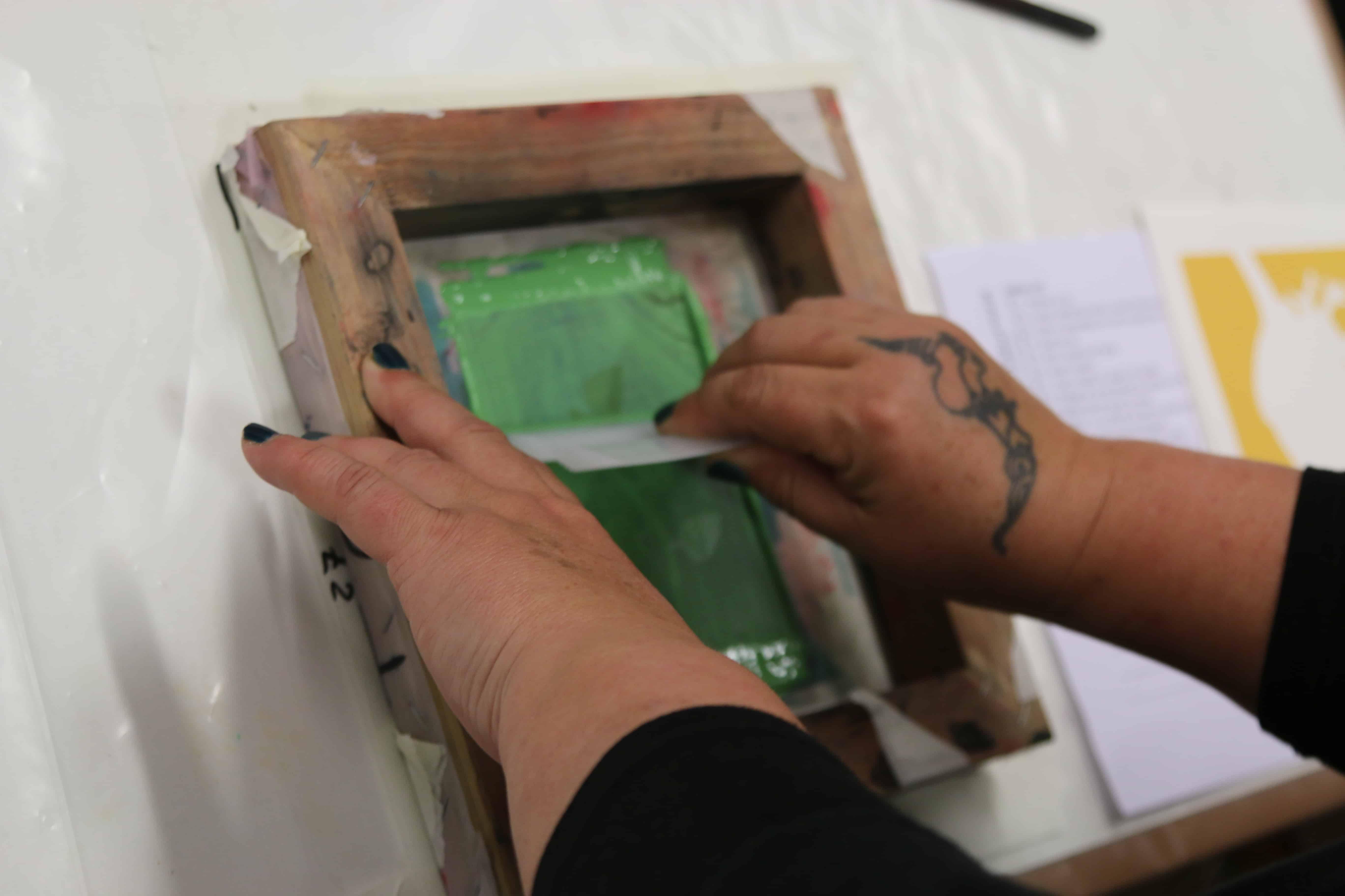 Imprimir Serigrafia a verde