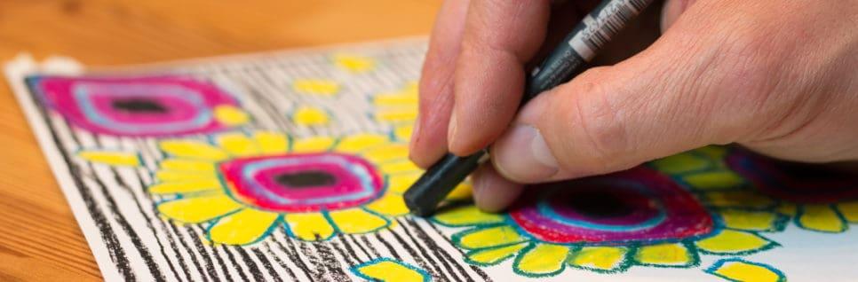 Aula 2 – Hundertwasser, aula de desenho à distância