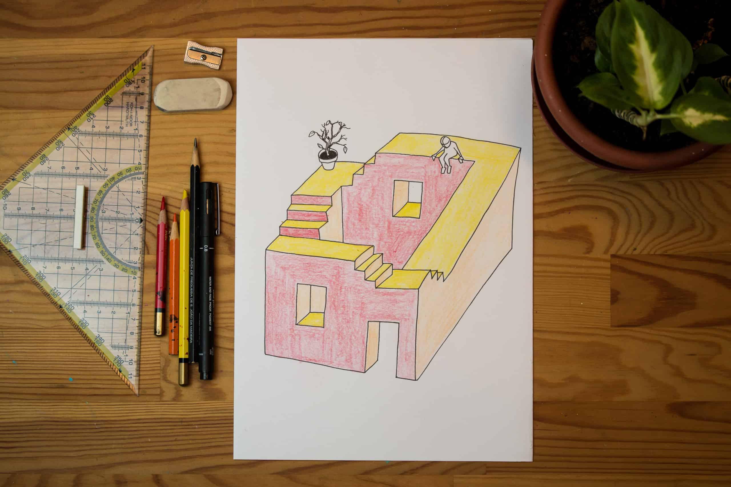 O Resultado final da primeira aula de desenho à distância